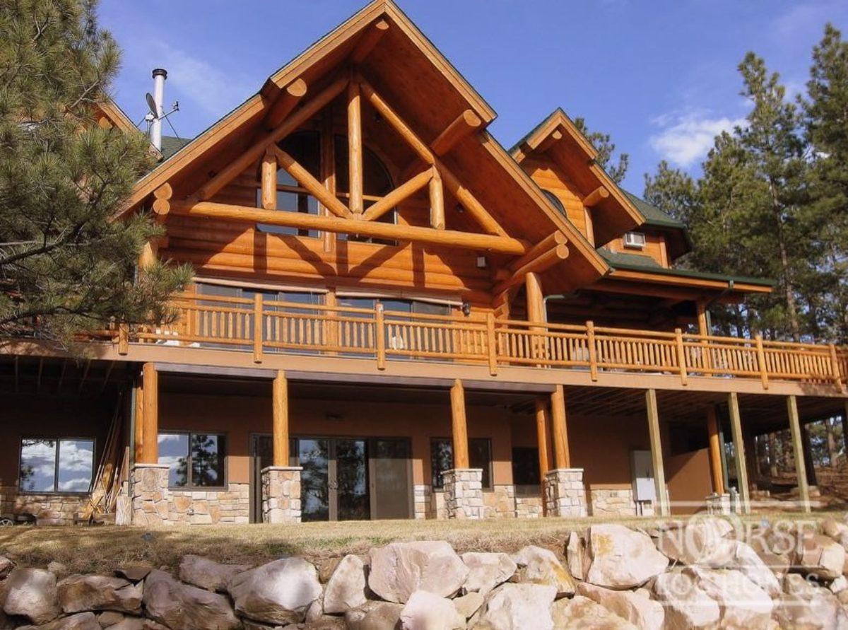 Log House Cabin Custom Home Design